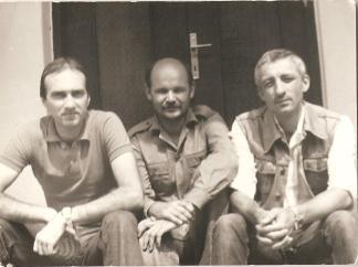 August, 1984, cu I.B. Lefter şi George Crăciun